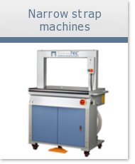 Narrow strapping machines